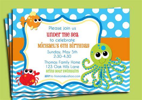 the sea invitation template the sea invitation printable or printed with free