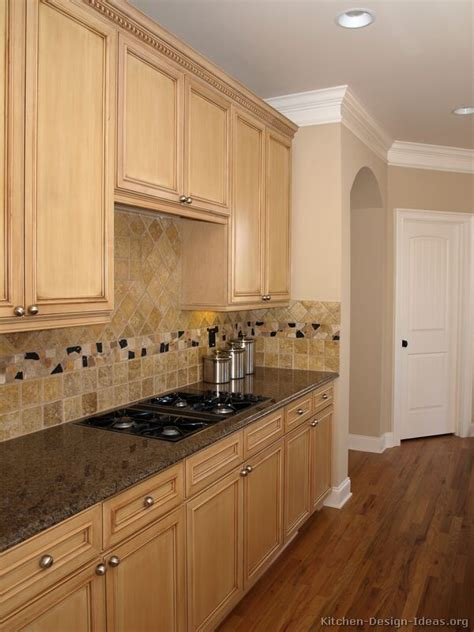 Light Wood Kitchen Cabinets Pictures Of Kitchens Traditional Light Wood Kitchen Cabinets Kitchen 17