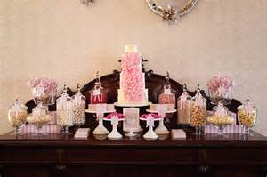 Cake And Candy Buffet Table Elegant Pink And Grey Wedding Candy Table Sweet Style