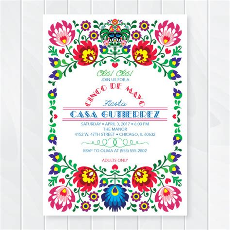 Cinco De Mayo Fiesta Invitation First Comes Love Then Comes Paper Mexican Invitation Template