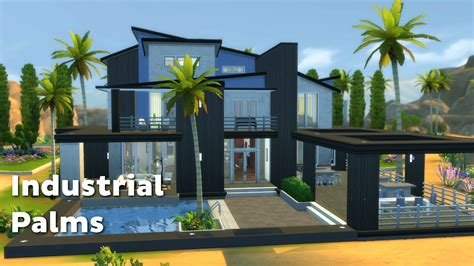 The Sims 4: House Building   Industrial Palms   YouTube