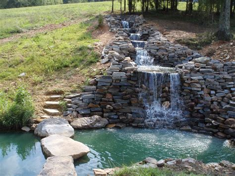 Waterfalls Striking Complement To Backyard Layout