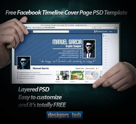 free facebook timeline cover page psd template by