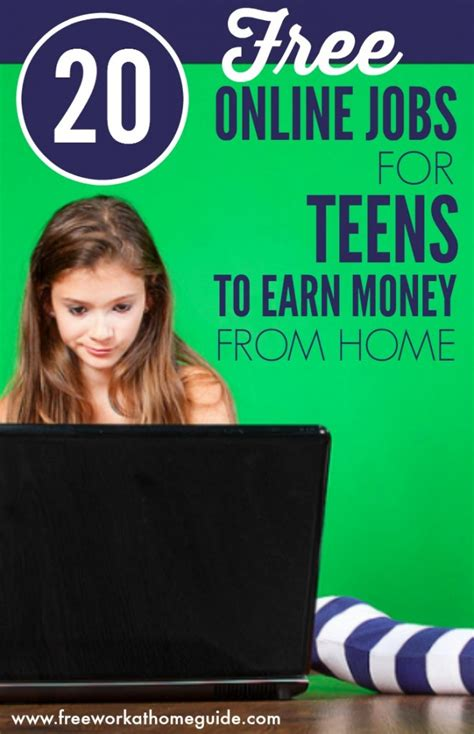 Ways Teens Can Make Money Online - 20 free work at home ideas for teens to earn money online best work from home jobs