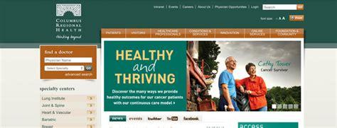 website top bar design 10 best hospital website designs