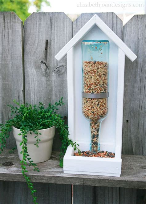 hometalk how to build a wine bottle bird feeder