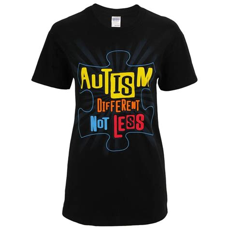 Tshirt Autistic Of Db different not less autism awareness t shirt the autism site