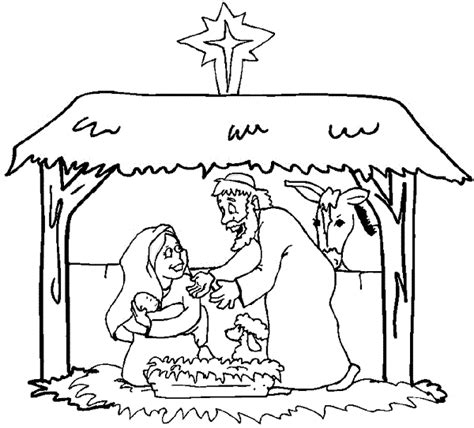 coloring pages of stable printable nativity coloring pages coloring me