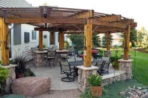 Rustic pergola patio severence co rustic patio denver by