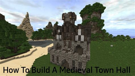 build a small castle minecraft tutorial how to build a medieval town hall