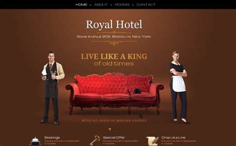 website template luxury hotels and carousels on pinterest luxury hotel one page template website templates