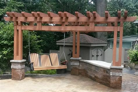pergola swing plans you thought of adding swing to your pergola