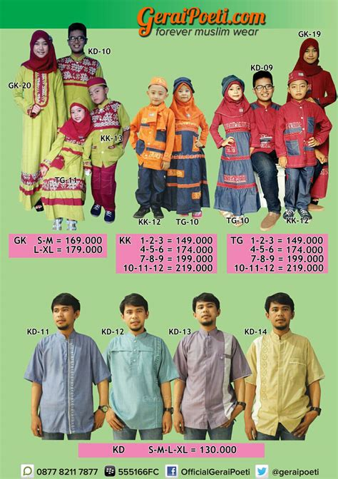 Katalog Baju Muslim Katalog Baju Muslim Anak Dan Dewasa Geraipoeti Collection