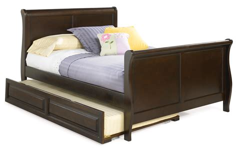 bed with trundle free savings atlantic furniture sleigh bed