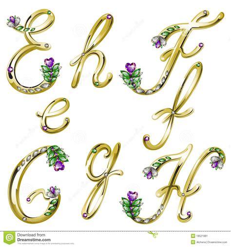 lettere particolari l alfabeto dell oro con le gemme segna la e con lettere