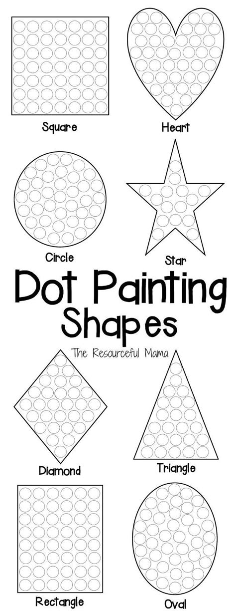 printable dot to dot shapes shapes dot painting free printable dot painting motor
