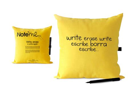 Note Me Pillow by Margui Mora S Note Me Pillow Gift Ticatoca