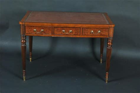 leather top writing desk leather top burled writing desk for the office ebay
