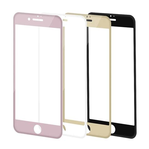 Tempered Glass Warnacolour Iphone 7 Plus High Quality Paper Pack high quality for iphone 6 6s iphone 7 plus 9h 3d soft edges screen covered carbon fiber