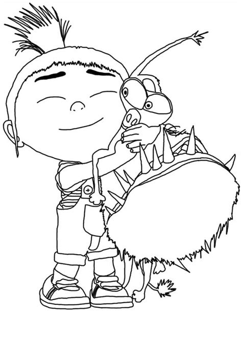 agnes unicorn coloring page free unicorn in despicable me coloring pages