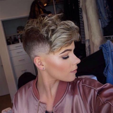 first time womens fade haircut 133 best women s pompadours images on pinterest short