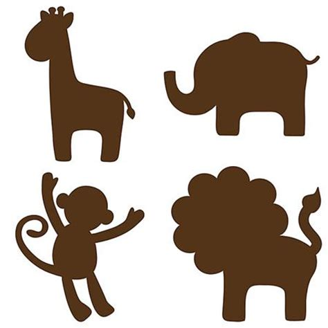 jungle silhouettes espresso brown wallpops for baby decals