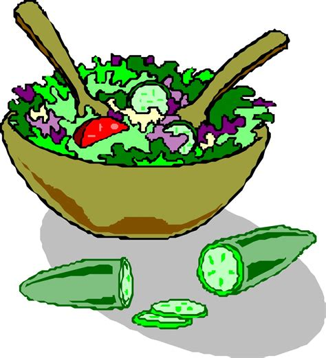 Bowl Clip Free by Salad In Bowl Clipart Clipart Suggest