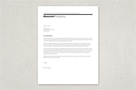 photography letterhead templates modern photographer s letterhead template a minimalist modern professional stationery design