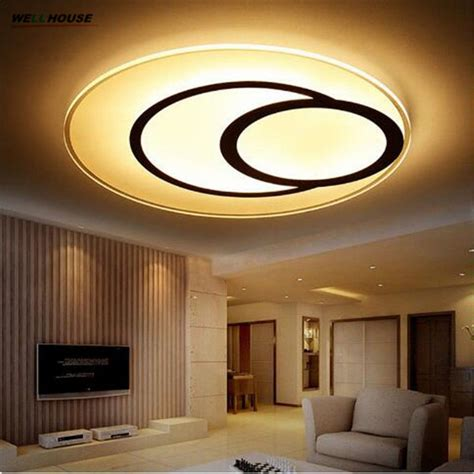 Living Room Led Ceiling Lights Thin Ceiling Lights Indoor Lighting Led Luminaria Abajur Modern Led Ceiling Lights