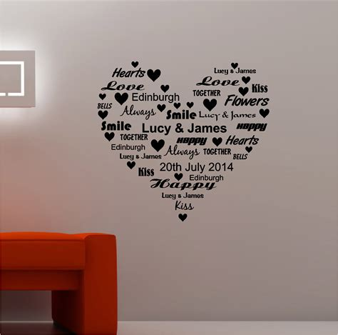 wall word stickers personalised word vinyl wall quote sticker