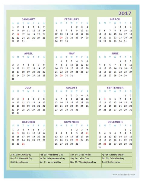 Calendar Design Templates Free 2017 Annual Calendar Design Template Free Printable