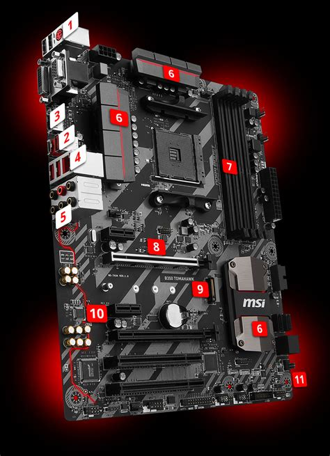Msi B350 Tomahawk Plus Am4 Amd Promontory B350 Ddr4 Limited overview for b350 tomahawk 微星中国