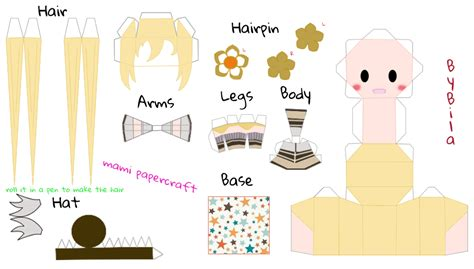 Papercraft Base - mami tomoe chibi papercraft by bila sama on deviantart