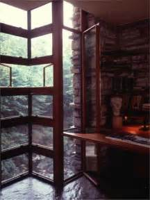 fallingwater picture of corner window and desk inside