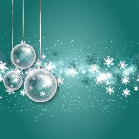 christmas bubbles with snowflakes background vector free