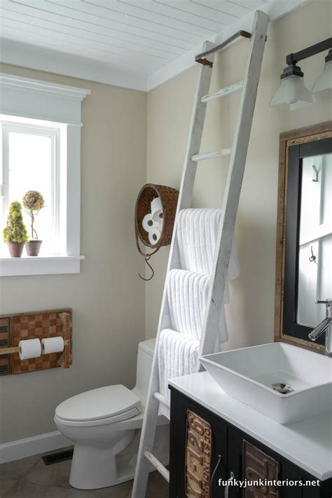 bathroom towel storage ideas living to a cabin with bathroom storage ideasfunky junk interiors