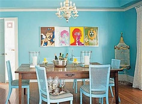 Eclectic Blue Dining Room Go Eclectic And Chic In The Dining Room Home Decor And