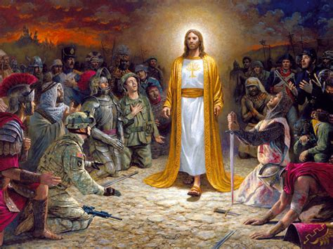 jesus christ soldiers praying   lord   sins committed  ultra hd desktop