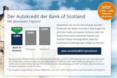 bank of scotland girokonto autokredit bank of scotland kredit test