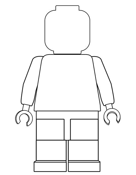 lego minifigure template free printable lego coloring pages paper trail design