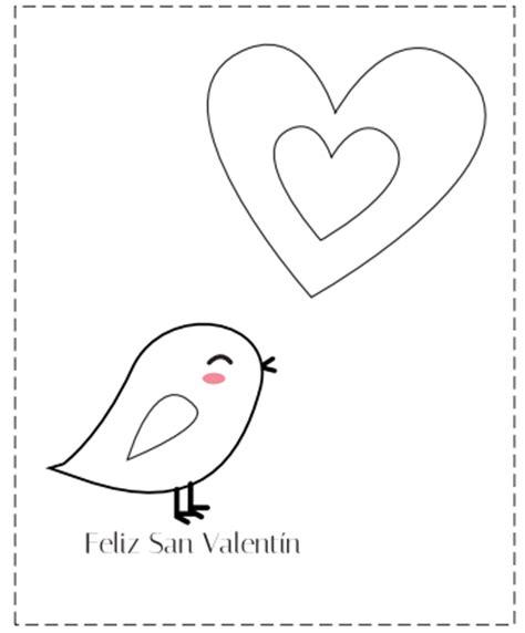 imagenes de amor para dibujar en cartulina tarjetas de san valent 237 n para colorear manualidades