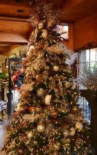 Platinum amp bronze themed christmas tree christmas trees pinterest