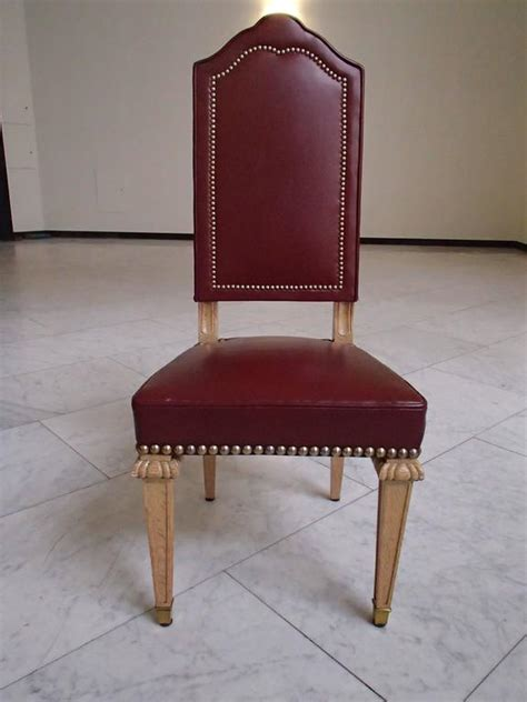 red leather dining room chairs six dining room chairs dark red leather cerused oak for