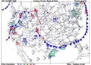 barometric pressure map america activity 1b