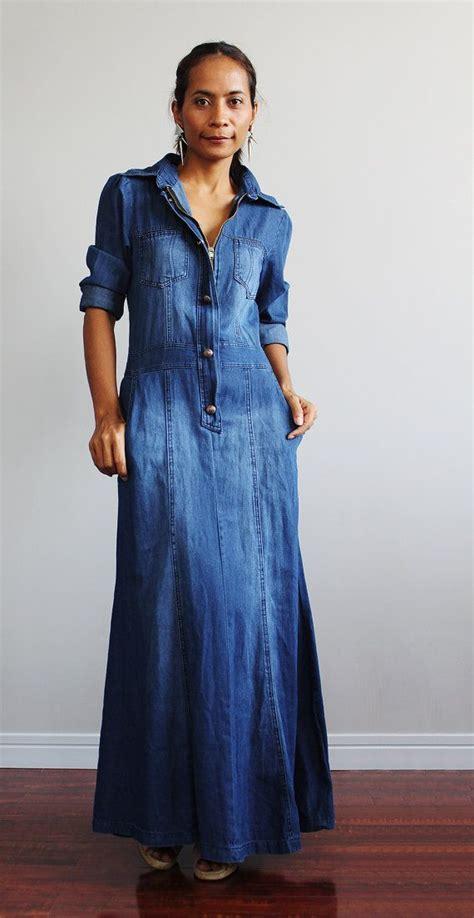 best 20 denim maxi dress ideas on