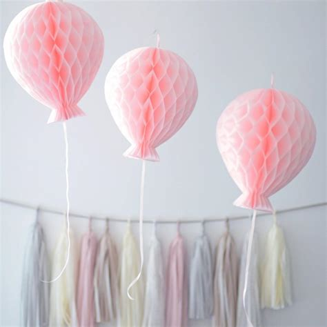 tissue paper honeycomb balloon decorations your colors