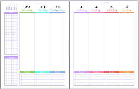 printable planner pages for 2015 updates to the pretty pretty planner calvin was right