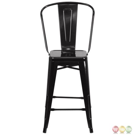 Black Metal Counter Height Stools by 24 High Black Metal Indoor Outdoor Counter Height Stool