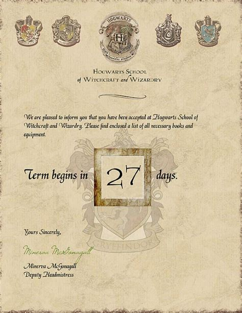 Hogwarts Acceptance Letter Etsy The World S Catalog Of Ideas
