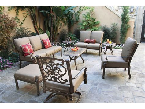 Darlee Patio by Darlee Outdoor Living Santa Barbara Cast Aluminum Sofa